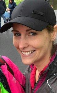 Podiatrist Anna Cooke running